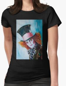 The Mad Hatter - Johnny Depp Womens Fitted T-Shirt