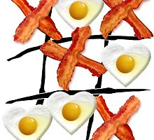 Bacon and Eggs tic tac toe by Garaga