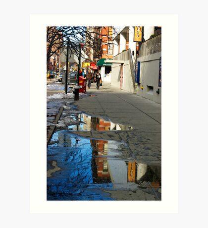 Reflection in the Sidewalk Art Print