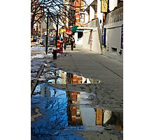 Reflection in the Sidewalk Photographic Print