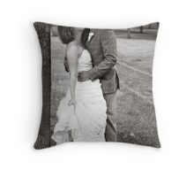 Jess & Sam's Wedding Day Throw Pillow
