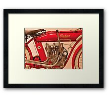 Motorcycle - Indian Motorcycle engine Framed Print