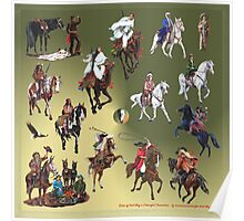 Karl May and his Colourful Characters by tasmanianartist for Karl May Friends Poster