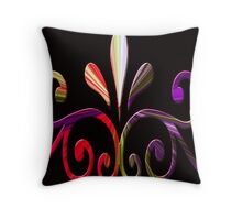 Beautiful, colorful computer generated pattern design. Throw Pillow