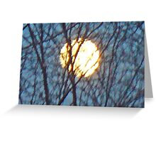 moon branches Greeting Card