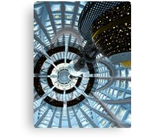 Spacecraft inside the Asteroid Canvas Print