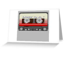 Guardians Awesome Mix Vol 1 Greeting Card