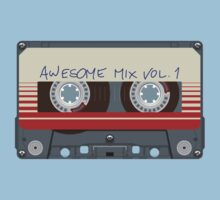 Guardians Awesome Mix Vol 1 Baby Tee