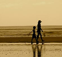 Stroll on the Beach by Caren
