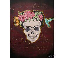 Frida Kahlo Skull Photographic Print
