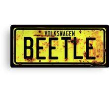 Volkswagen Beetle Number Plate Canvas Print