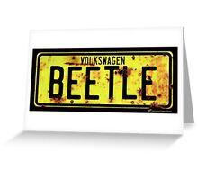 Volkswagen Beetle Number Plate Greeting Card