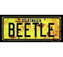 Volkswagen Beetle Number Plate © Photographic Print