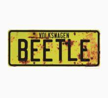 Volkswagen Beetle Number Plate © Kids Tee