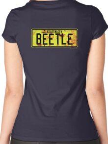Volkswagen Beetle Number Plate © Women's Fitted Scoop T-Shirt