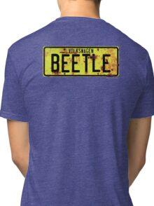 Volkswagen Beetle Number Plate © Tri-blend T-Shirt