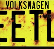 Volkswagen Beetle Number Plate © Sticker