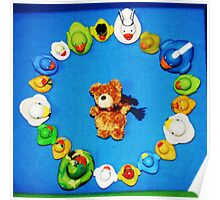 Benny Bear in Duck Blessing Circle, from above Poster