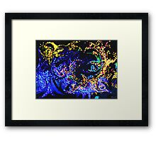 Fire and Ice Abstract Framed Print