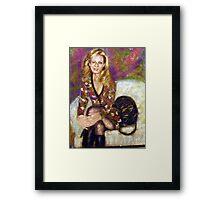 Pastel Portrait - Roberta Framed Print