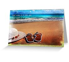 Way, Path and Footsteps II Greeting Card
