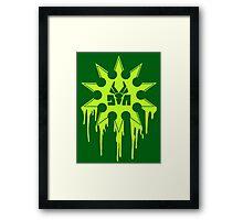 Die Antwoord Ninja Star (Green Version) Framed Print