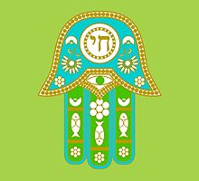 Hamsa for blessings, power and strength  by symbols