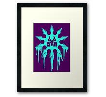 Die Antwoord Ninja Star (Aqua Version) Framed Print