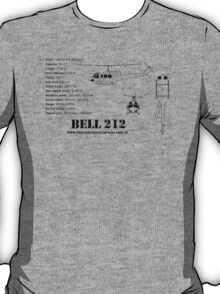 Bell 212 Twin Huey Helicopter T-Shirt
