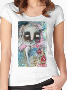 Abstract Portrait  Women's Fitted Scoop T-Shirt
