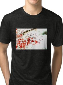 Snowy Maple Abstract Tri-blend T-Shirt