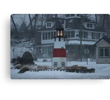 Snowy Afternoon at the Bluff Canvas Print