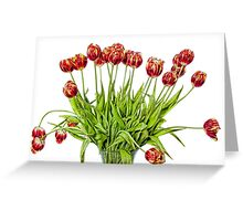Painted Tulips Greeting Card