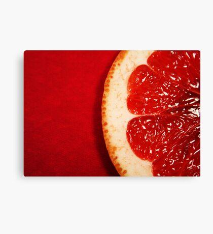Red Grapefruit Canvas Print