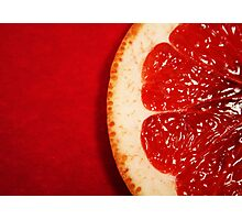 Red Grapefruit Photographic Print