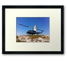 South Solitary Island - Huey Helicopter Framed Print