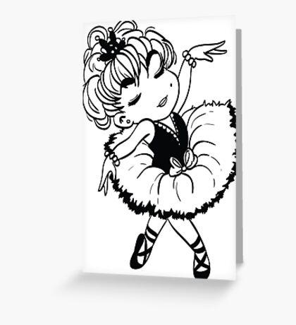 Cute Little Ballerina Greeting Card
