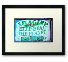 Heal the World~Peace Framed Print