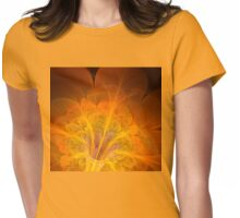 Fire Flower. Womens Fitted T-Shirt