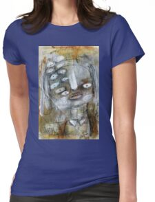 Abstract Portrait Womens Fitted T-Shirt