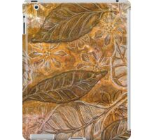 Leaves 14 Mixed Media - Ink on Monoprint iPad Case/Skin