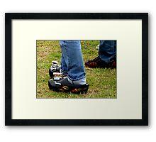 Rockabilly Hot Rod Clogs! Framed Print