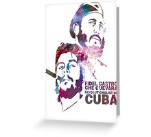 Fiedel Castro and Che Guevara Artwork Greeting Card