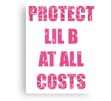 PROTECT LIL B Canvas Print