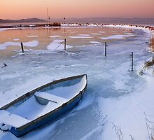 Lake Balaton at winter by Dávid Gulyás