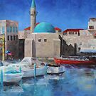 The Old Port of Acre, Israel by Anny Arden