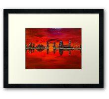 Thameside Red Framed Print
