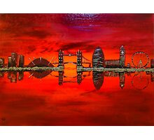 Thameside Red Photographic Print