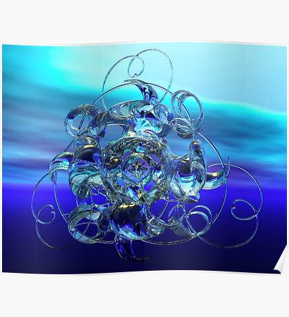 Elegant Torus Ice Sculpture Poster