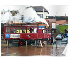 Whitby Steam Bus Poster